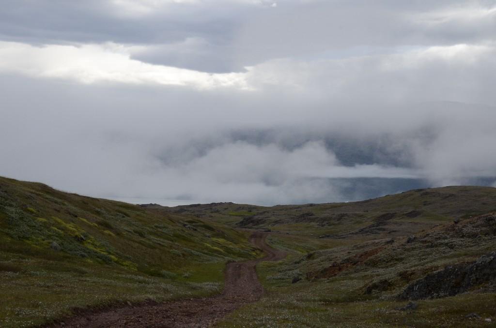 View of the road from Tasiusaq to Qassiarsuk / Brattahlíð